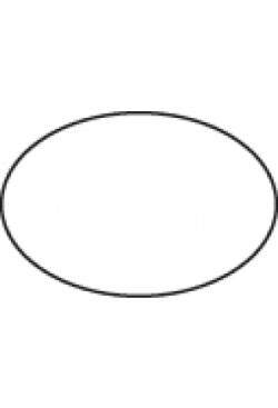 Etiketten oval 33x22mm, 1000Stk. div.Farben oder transparent